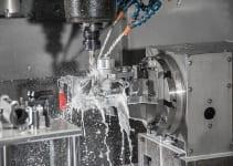 Machining aluminum parts.