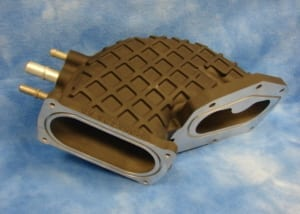 throttle body produced using green sand casting